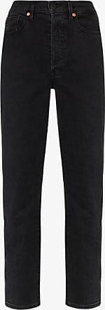 3x1 Womens Black Claudia Slim Leg Jeans