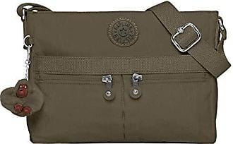 Kipling Womens Angie Crossbody Bag, Adjustable Shoulder Strap, Zip Closure, Jaded Green Tonal