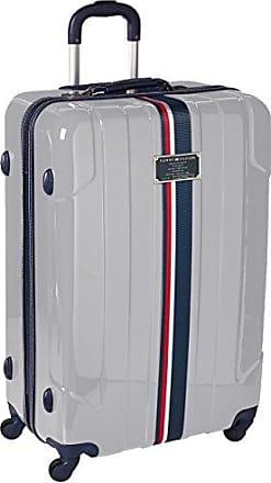 Tommy Hilfiger Lochwood 28 Inch Spinner Luggage, Silver, One Size