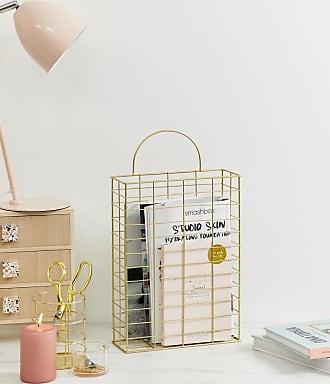 Chickidee Homeware Chickidee mat gold wire magazine holder