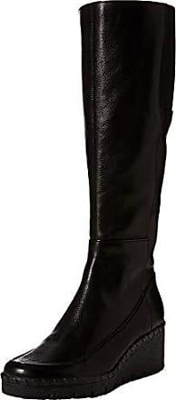 a4e7fe8220d Geox D Wiva Wedge E, Botines para Mujer, (Black C9999), 41