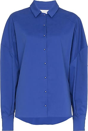 Esteban Cortazar Oversized Boxy Fit Shirt - Azul