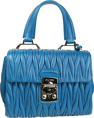 6a15658d902e 1stdibs Miu Miu Blue Matelasse Nappa Leather Shoulder hand Flap Bag