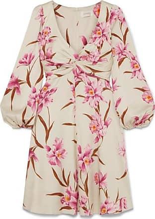 Zimmermann Printed Stretch-silk Twill Mini Dress - Cream