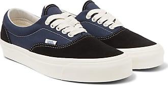 Vans Ua Og Era Lx Canvas And Suede Sneakers - Black