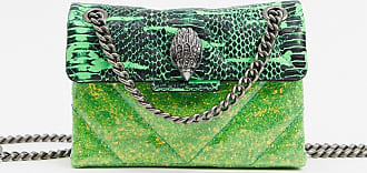 Kurt Geiger Kensington mini bag in green snake print leather