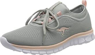 Kangaroos Womens K-Run Neo S Low-Top Sneakers, Grey (Vapor Grey/Pink English Rose 2043), 7.5 UK