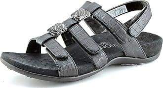 ecfc8daf62c3 Vionic Amber - Womens Slide Sandal - Orth Black Crocodile - 7 Medium UK  Size