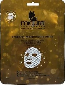 Miqura Pflege Premium Mask Collection Preparty Moisturizing Mask with Glitter 25 ml