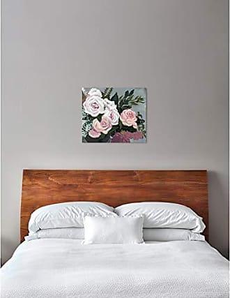The Oliver Gal Artist Co. The Oliver Gal Artist Co. Floral Wall Art Canvas Prints Garden of Roses Home Décor, 28 x 24, White, Orange