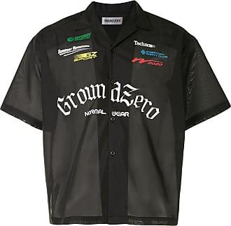 Ground-Zero Camisa translúcida com mangas curtas - Preto