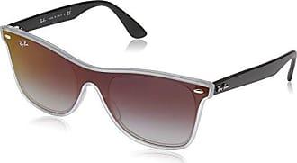Ray-Ban RB4440N Blaze Wayfarer Sunglasses, Transparent Black / Grey Gradient Mirror, 41 mm, Non-Polarized