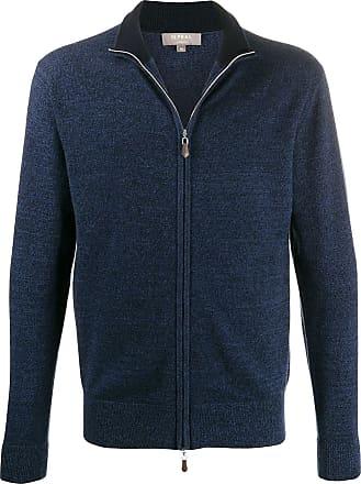 N.Peal The Knightsbridge zip cardigan - Blue