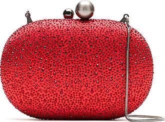 Isla Bolsa clutch com strass - Vermelho
