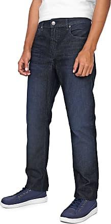 Calvin Klein Jeans Calça Jeans Calvin Klein Jeans Slim Estonada Azul-marinho