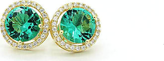 Royalz Brinco Royalz Semi Joia Dourado Cristal Helena Verde