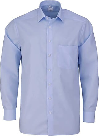 Olymp Luxor Comfort Fit Shirt Long Sleeve with New Kent Poplin Light Blue - Blue - 18