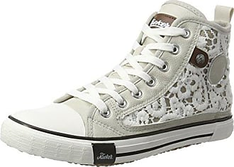 05d0b278207b Rieker Damen Y2218 High-Top, Weiß (Ice Kreide-Grey Brown