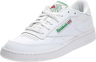 Reebok Mens Club C 85 Gymnastics Shoes, White (Intense White/Green 0), 8.5 (UK) 42.5 EU