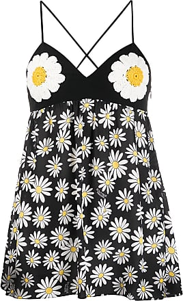 Moschino daisy print tunic top - Black