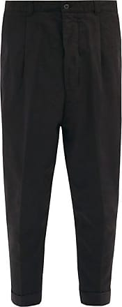 Ami Ami - Cropped Cotton-twill Trousers - Mens - Black