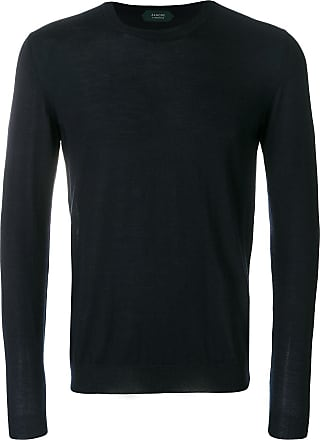 Zanone Suéter de cashmere decote careca - Azul