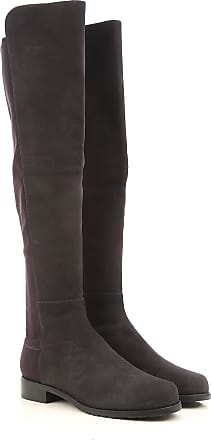 Stuart Weitzman Boots for Women, Booties On Sale in Outlet, Anthracite Grey, Suede leather, 2017, 5 6 7 8