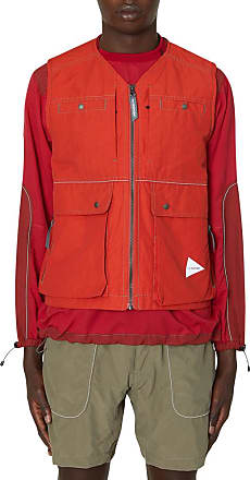 And Wander And wander Laser hole taffeta vest RED XL