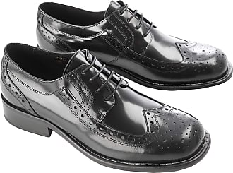 Ikon Mens Kromby Formal Smart Casual Brogue Shoes - Black - 10UK