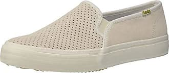Keds Womens Double Decker Suede Sneaker, Cream, 8 M US