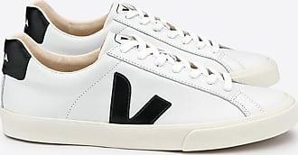 Veja White Black Esplar Low Logo Ledertrainer Damen - 37