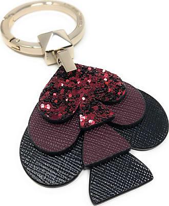 Kate Spade New York Glitter Spade keychain Keyfob Purse Charm (Silver)