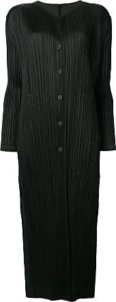 Issey Miyake plissé coat - Black