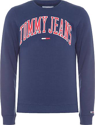 Tommy Jeans BLUSA MASCULINA CLEAN COLLEGIATE CREW - AZUL