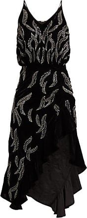 Dodo Bar Or Agnes Bead-embellished Velvet Dress - Womens - Black