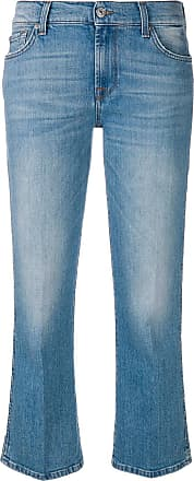 7 For All Mankind Calça jeans flare cropped - Azul