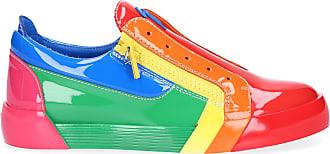 Giuseppe Zanotti Sneaker low RNBW Lackleder Logo bunt