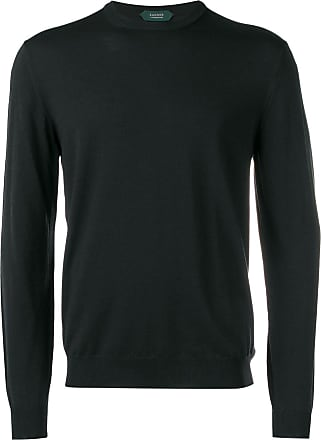 Zanone textured sweater - Black