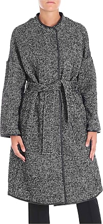 Pinko Black and white herringbone fabric Barile coat