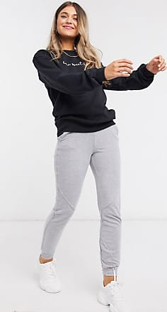 In The Style x Billie Faiers loungewear motif slogan sweatshirt in black