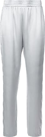 Fleur du Mal lace-embroidered trousers - Grey