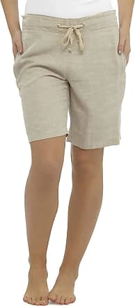 Tom Franks LADIES / WOMENS CASUAL LINEN COOL SHORTS, PERFECT FOR HOLIDAYS / SUMMER / BEACH (10, Beige Marl)