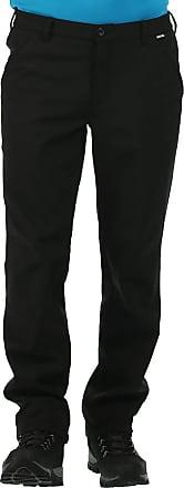 Regatta Great Outdoors Mens Fenton Lightweight Softshell Trousers (30S) (Black)