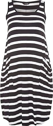 Yours Clothing Clothing Womens Plus Size Sleeveless Drape Pocket Dress Size 30-32 Black