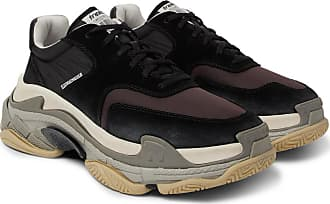 Balenciaga Triple S Nylon, Mesh, Suede And Leather Sneakers - Black