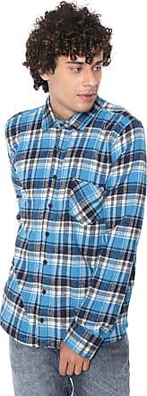 Hurley Camisa Hurley Reta Plaid Azul/Off-White