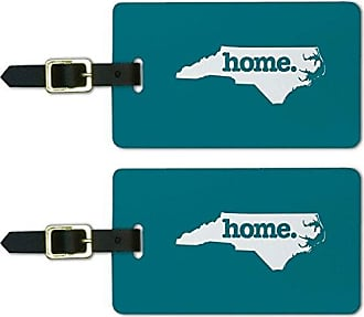 Graphics & More North Carolina NC Home State Luggage Suitcase ID Tags Set of 2 - Solid Turquoise