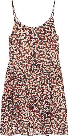 Velvet Zahara animal-print cotton minidress