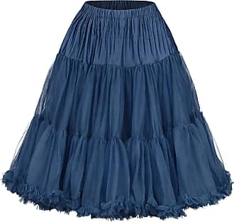 Banned Lifeforms Petticoat Skirt Navy M-L