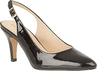 Lotus ULS056BP-40 Lizzie Black Patent Womens Slingback Shoes 5